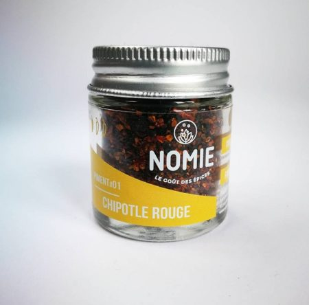 Piment fumé Chipotle rouge, Nomie ®