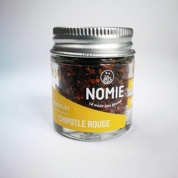 Piment fumé Chipotle rouge, Nomie ®